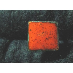 Bague carrée orange